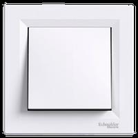 Выключатель одноклавишный Asfora Schneider electric (Шнайдер Асфора), белый, EPH0100121