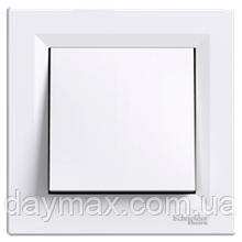 Вимикач одноклавішний Asfora Schneider electric (Шнайдер Асфора), білий, EPH0100121