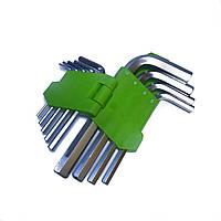 Набор шестигранных ключей, набор авто ключей, ключи шестигранные Г образные НШ-0912.