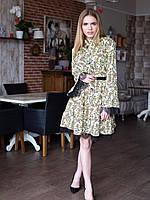 Легкое платье с кружевными вставками