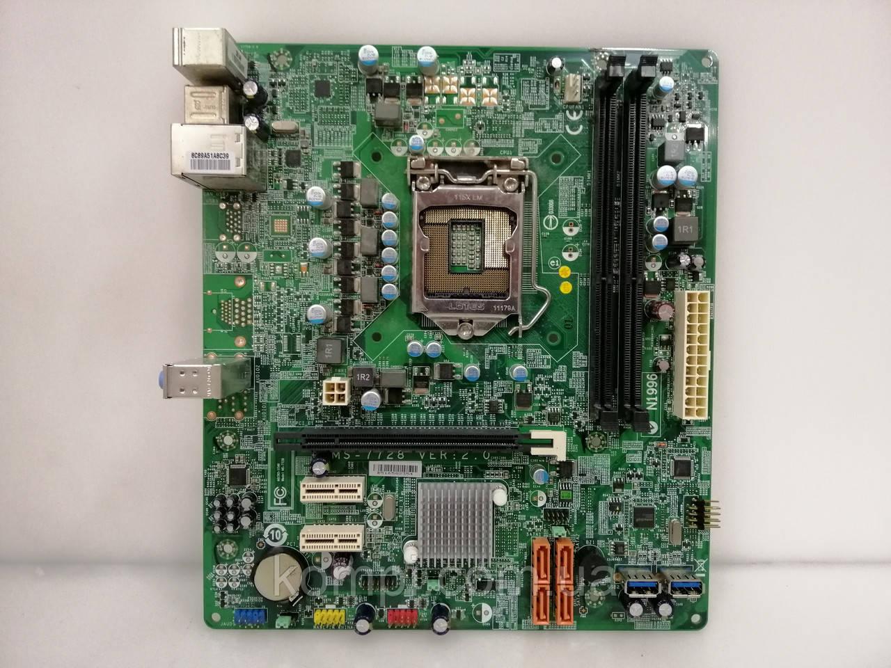 Материнська плата MSI MS 7728 S1155 Intel H61 DDR3