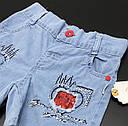 Джинсовые шорты для девочки 2-3-4-5 лет, фото 3