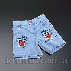 Джинсовые шорты для девочки 2-3-4-5 лет