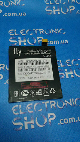 Акумулятор Fly iq4415 оригінал б.у, фото 2