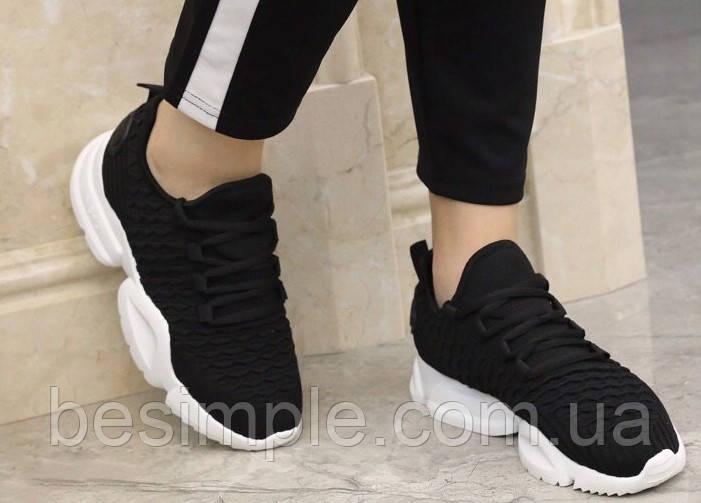 Кроссовки женские спортивные черные Adidas Run