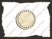 Круглое донышко для вязанных сумочек и корзин, диаметр 10см