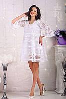 Женское летнее белое платье батист, фото 1