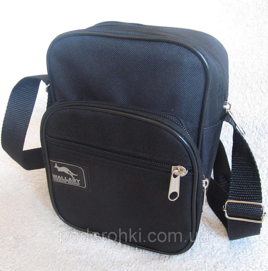 a3d6cda2fa97 Мужская сумка через плечо Wallaby 2661 черная барсетка на пояс 21х16х8см,  цена 98 грн., купить в Харькове — Prom.ua (ID#348415116)