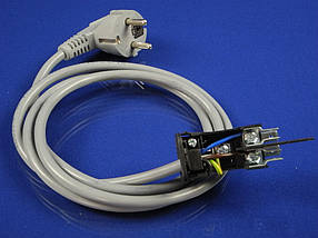 Сетевой шнур с вилкой для электроплиты толстый 1,5 м.