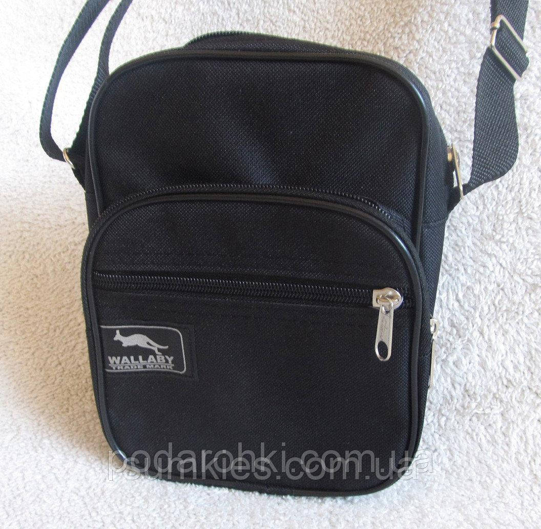 1e4bb2613229 ... Мужская сумка через плечо Wallaby 2661 черная барсетка на пояс  21х16х8см, ...