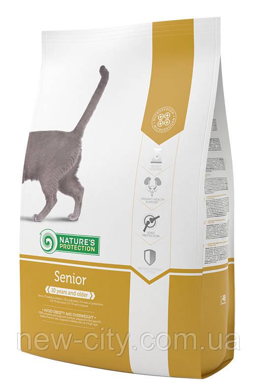 Корм Nature's Protection (Натур Протекшн) Seniore cat для пожилых котов, 7 кг