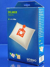 Набор одноразовых мешков WORWO для пылесоса Zelmer (49.4220), (ZMB03K)