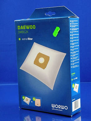 Набор одноразовых мешков WORWO для пылесоса DAEWOO (DMB02K), фото 2
