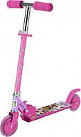 Детский самокат скутер двухколесный розовый для девочки T14742-U