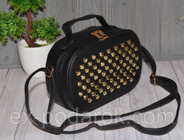 90704d2a5567 Черная женская сумка в заклепках : продажа, цена в Чернигове ...