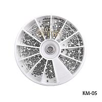 Стразы декоративные KM-05 - в круглой таре