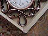 Часы интерьерные настенные. Винтажные часы с гербовыми вензелями. Часы ретро стиль., фото 2