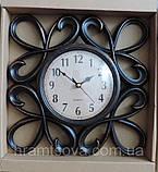 Часы интерьерные настенные. Винтажные часы с гербовыми вензелями. Часы ретро стиль., фото 5