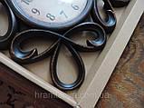 Часы интерьерные настенные. Винтажные часы с гербовыми вензелями. Часы ретро стиль., фото 6
