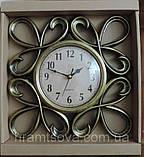 Часы интерьерные настенные. Винтажные часы с гербовыми вензелями. Часы ретро стиль., фото 7