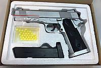 Игрушечный металлический пистолет ZM25 Colt Hi Capa Кольт Хай Капа, с пулями, метал