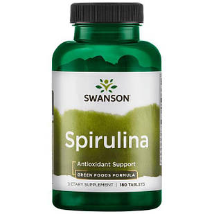 Swanson GreenFoods Formulas Spirulina, таблетки 500 мг 180 шт