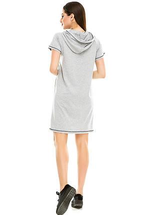 Платье 003 с капюшоном меланж, фото 2