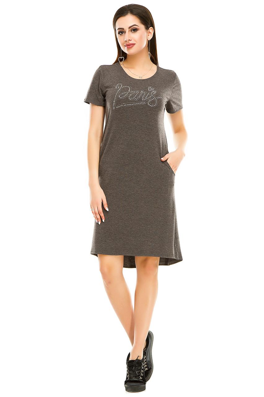 Платье 004 антрацит