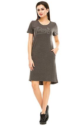 Платье 004 антрацит, фото 2