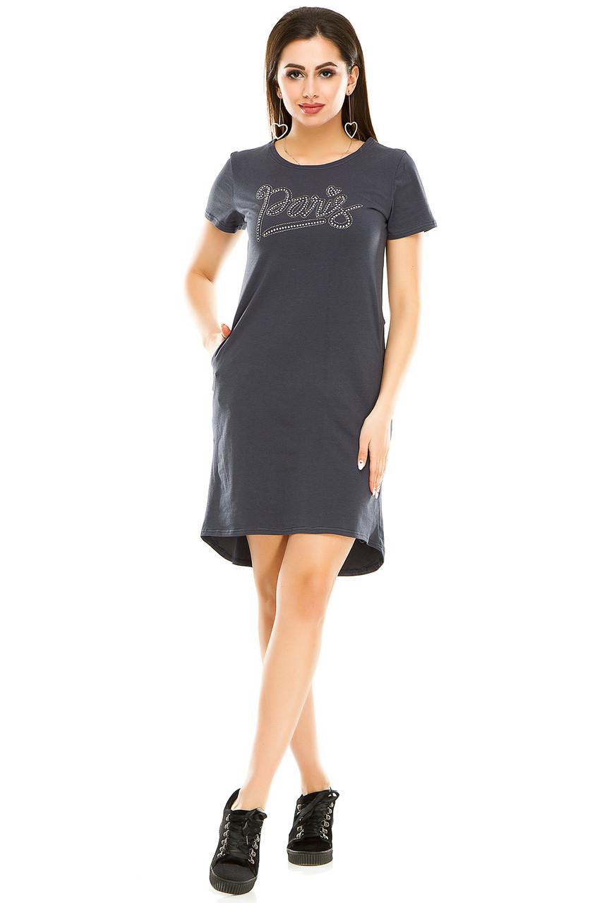 Платье 004 темно-серый