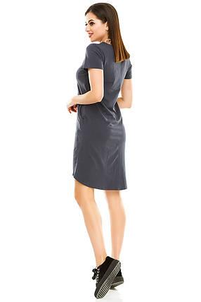 Платье 004 темно-серый, фото 2