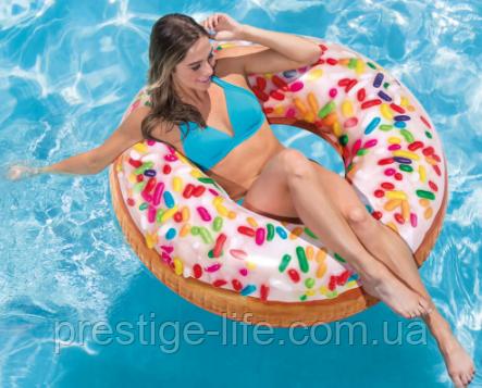 Надувной круг 56263 NP Intex Пончик с присыпкой
