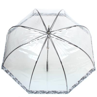 Жіночий парасолька-палиця механічний FULTON FULL866-photo-rose, прозорий