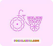 Трафарет + форма Велосипед романтика