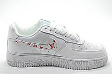 Кроссовки женские в стиле Nike Air Force 1 Low X Supreme, Белые\White, фото 3