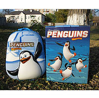 """Детский чемодан 16"""" на колесах Пингвин голубой, фото 1"""