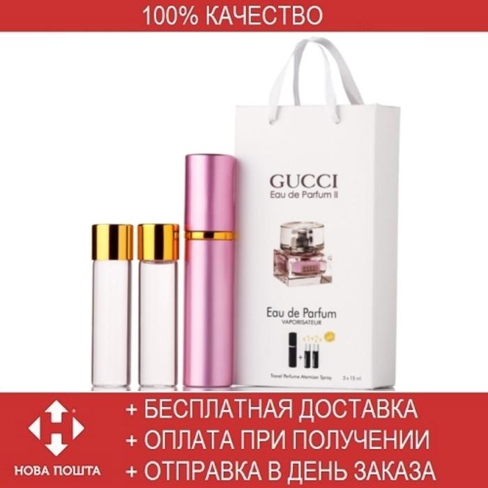 Gucci Eau De Parfum 2 Edp 3x15ml Mini парфюмированная вода гуччи эу