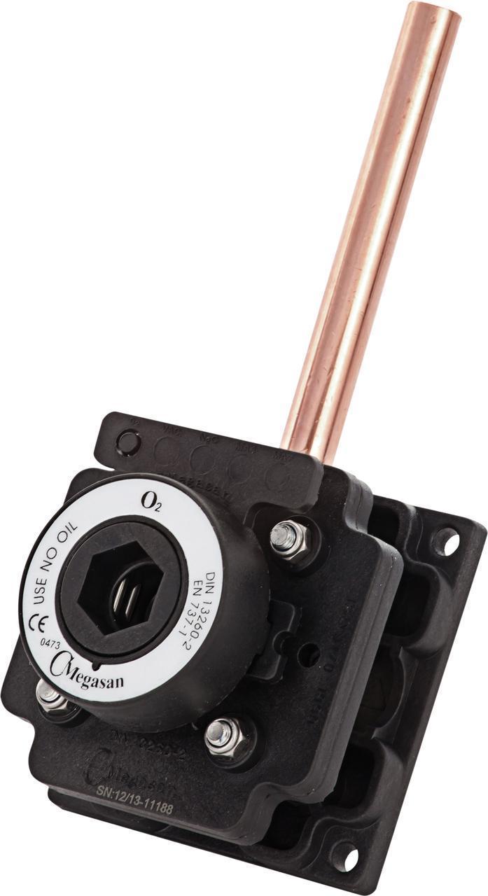 Розетка газовая, кислород - DIN - пневматическая 10 мм