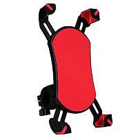 Универсальный велосипедный держатель для телефона на руль CH-04 красный, фото 1