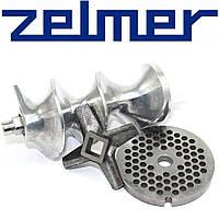 Шнек в комплекте с ножом и решеткой для мясорубки Zelmer ( шнек для одностороннего ножа NR8 )