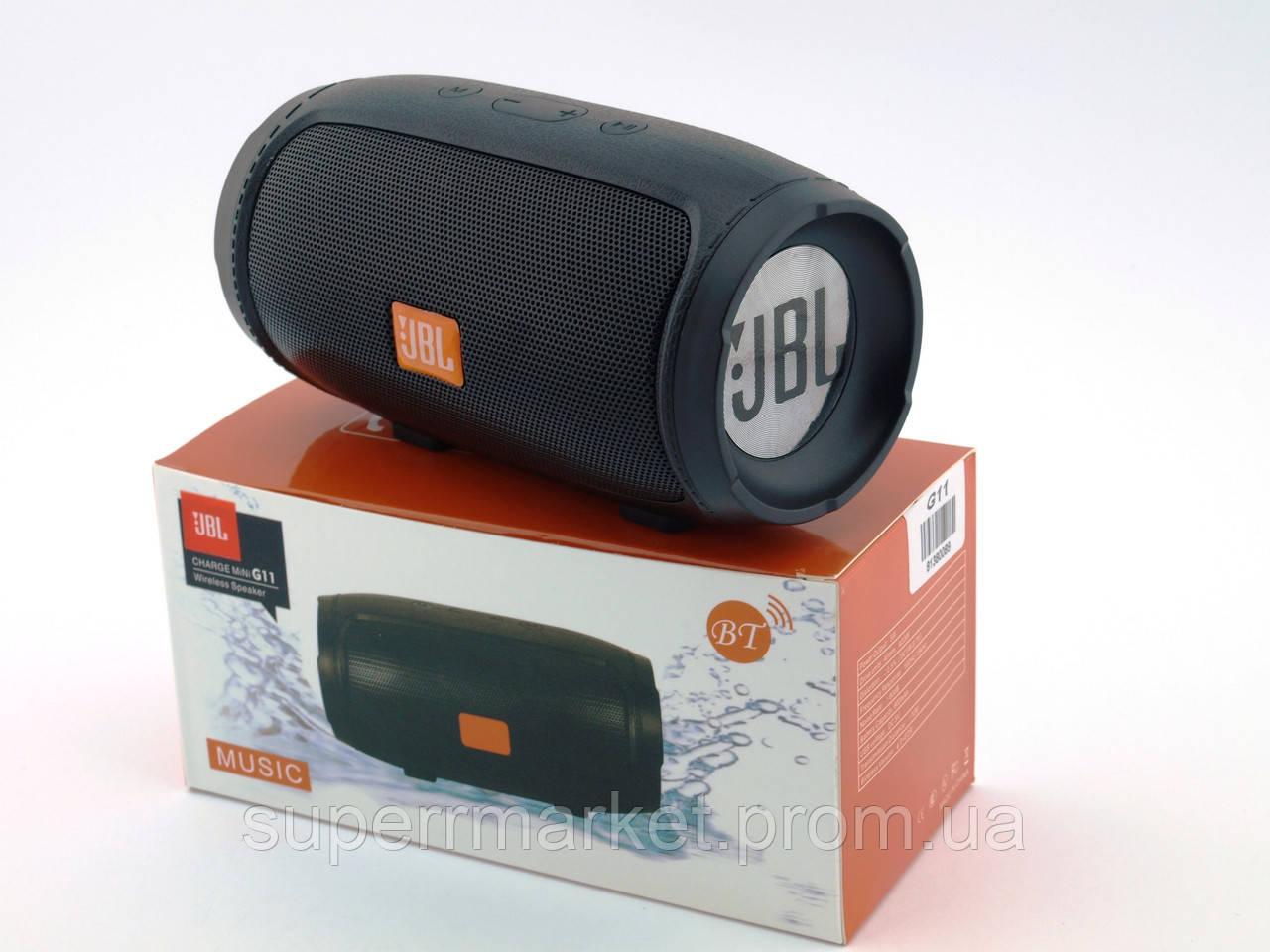 JBL Charge 3 mini E3 G11 6W копия, колонка c FM Bluetooth MP3, черная