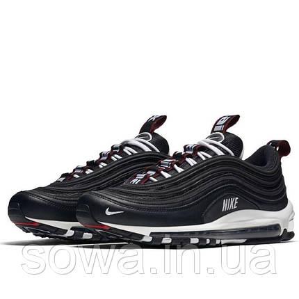"✔️ Кроссовки Nike Air Max 97 Premium ""Black/White-Varsity Red""  , фото 2"