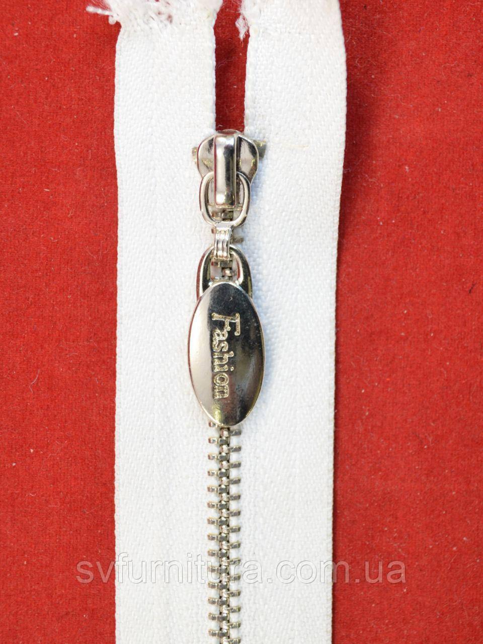 Молния металл 3 Fashion серебро 101 60см