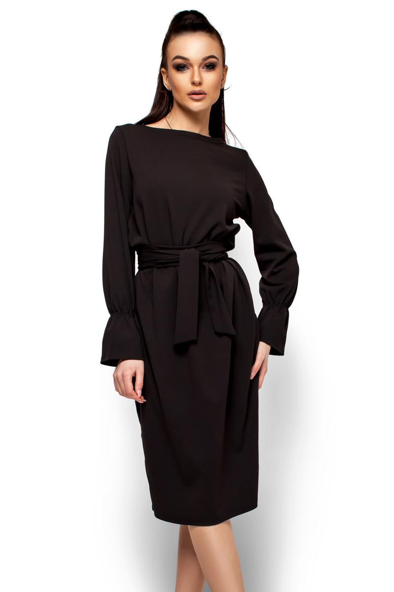 S, M, L, XL / Класичне вільне чорне плаття Venera