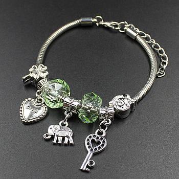 "Женский браслет в стиле Пандора  ""Ailita Green"""