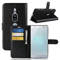 Чехол-книжка Litchie Wallet для Sony Xperia XZ2 Premium H8166 / H8116 Черный