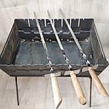 Шампура с деревянной ручкой Шпага из нержавейки длина 60см толщина 3мм, фото 2