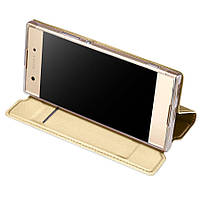Чехол-книжка Dux Ducis с карманом для визиток для Sony Xperia XA1 Plus / XA1 Plus Dual Золотой