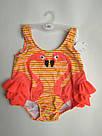 Детский купальник малышка в памперсе c фламинго лимонный, фото 6