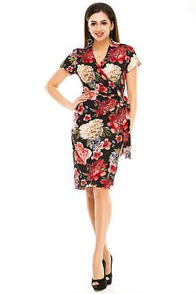 Платье на запах 007 черное, фото 2